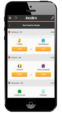 racebets head to heads for ios