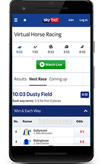 SkyBet mobile app for Android