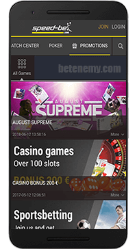 Speed-bet mobile app true Android