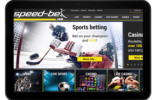 mobile version of Speed-bet