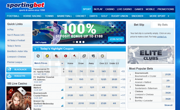 design and structure of Sportingbet