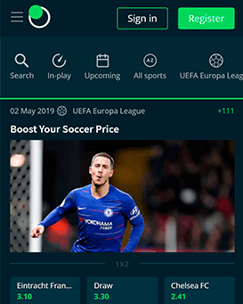 Sportsbet.io mobile screenshot