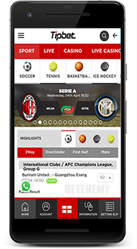 TipBet mobile sports betting