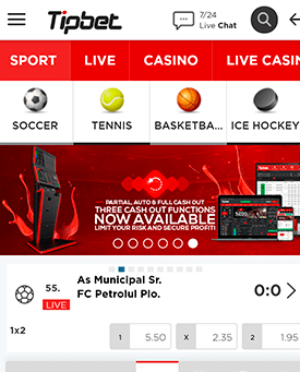 tipbet mobiler screenshot