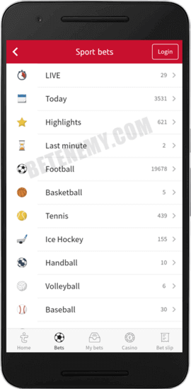 tipico android app sports