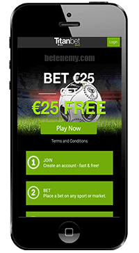 mobile home page of titanbet