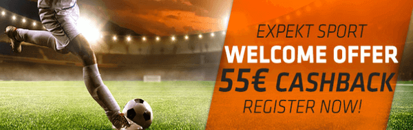 welcome offer for sports betting at expekt
