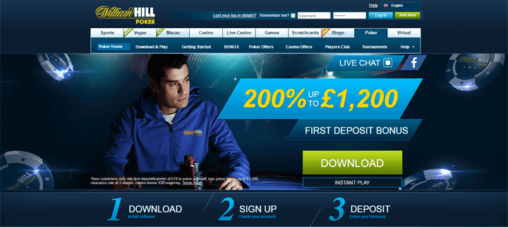 william hill poker games
